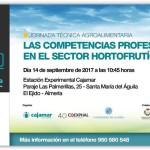 Día 14 de septiembre. Jornada 'Las competencias profesionales en el sector hortofrutícola'