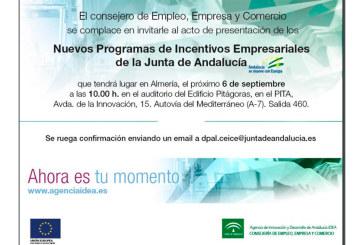 Día 6 de septiembre. Presentación 'Nuevos programas de incentivos empresariales'