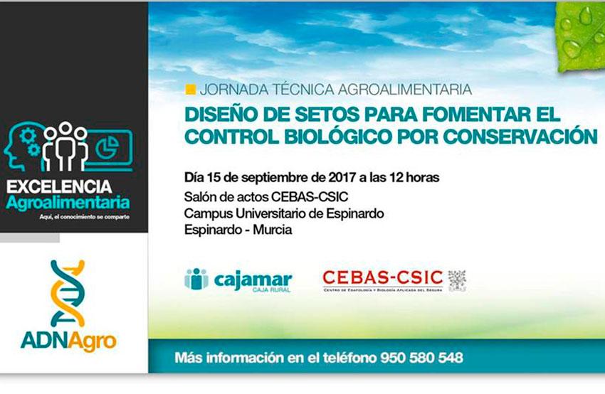 Día 15 de septiembre. Diseño de setos para fomentar el control biológico por conservación. Murcia