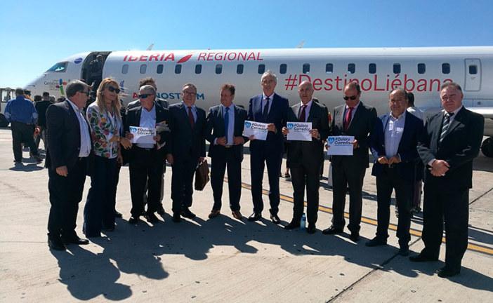 Almería sube al avión para pedir un tren: Corredor Mediterráneo