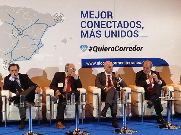 Diego Martínez Cano pide el Corredor Mediterráneo para Almería en Madrid.