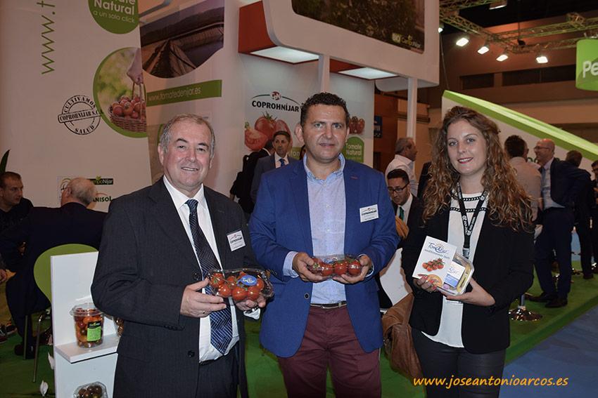 Juan Segura, Emilio Pérez y Daisy Kroon (marketing Enza Zaden).