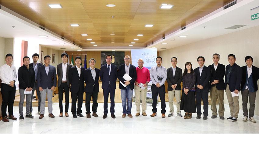 Cooperativistas japoneses en El Ejido
