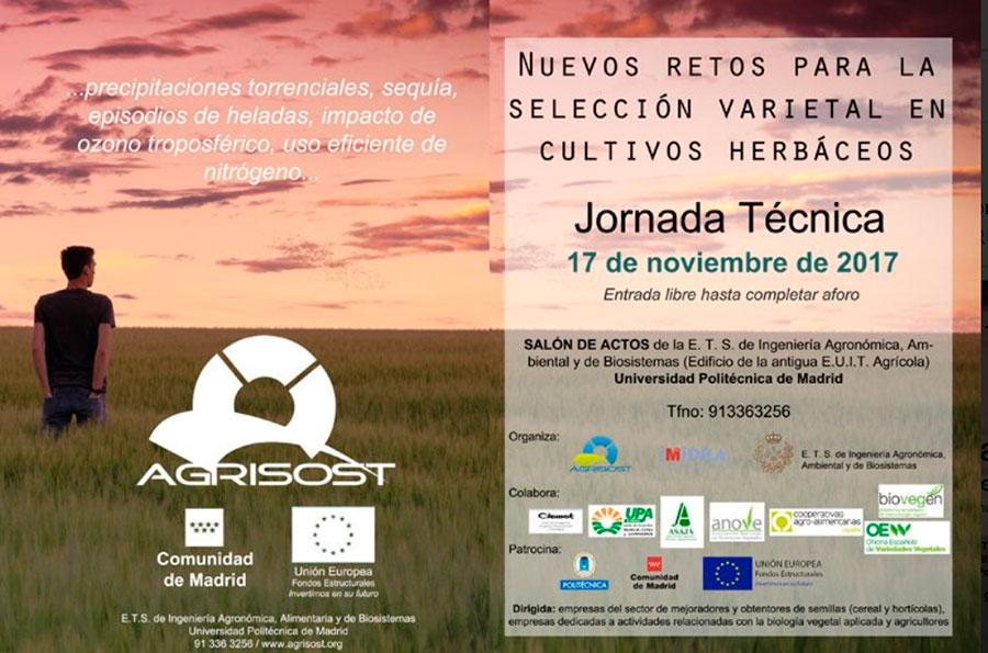 Día 17 de noviembre. Jornada 'Nuevos retos para la selección varietal en cultivos herbáceos '