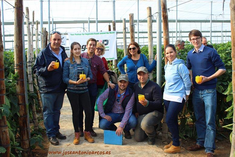 Agricultores en las jornadas de pimiento amarillo de agroTIP en Almería.
