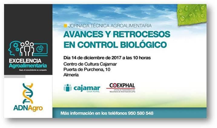 Día 14 de diciembre. Jornada 'Avances y retroceso en control biológico'. Almería