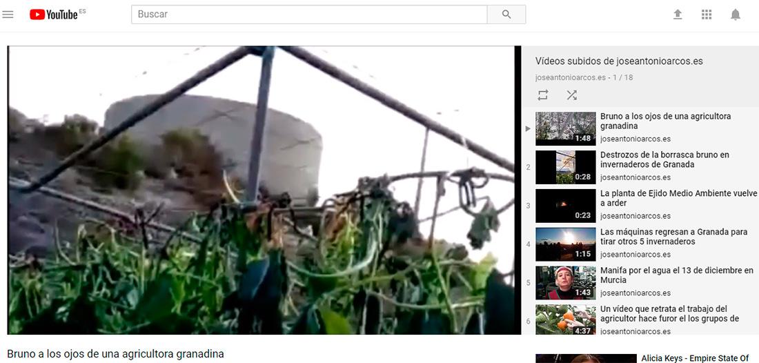 Los ojos de una agricultora relatan el paso de Bruno (vídeo)