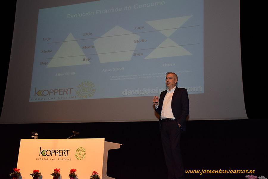 David del Pino en el 50 Aniversario de Koppert.