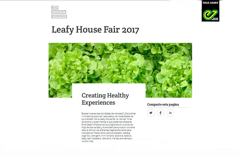 Día 15 de diciembre. Leafy House Fair 2017 de Enza Zaden