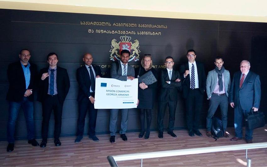 Misión comercial de la Cámara de Comercio de Almería a Georgia y Armenia. Internacionalización, exportaciones.