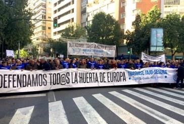 Los comuneros almerienses acompañan a los murcianos en la calle