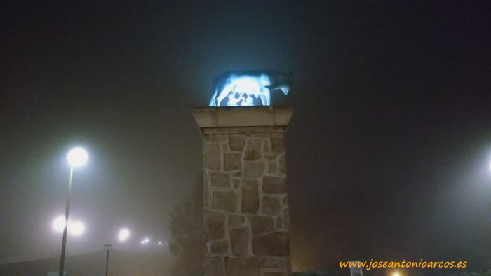La loba de la plaza de Roma de Mérida.