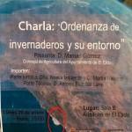 Día 29 de enero. Charla 'Ordenanza de invernaderos y su entorno'