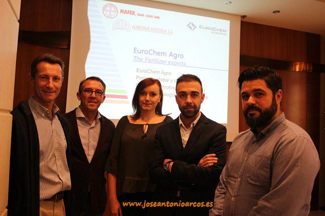 Representantes de EuroChem Agro y del grupo Almerisur. Foto: Envía Golf de Vícar.