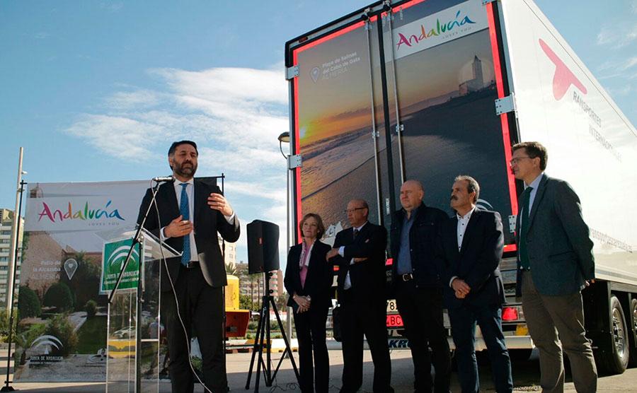 33 camiones de hortalizas promocionarán el turismo andaluz