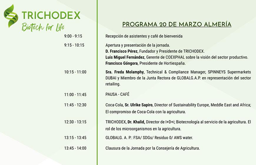 Día 20 de marzo. Jornada sobre agricultura sostenible. Un esfuerzo colectivo