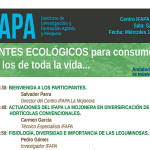 Día 14 de marzo. Jornada sobre guisantes ecológicos. IFAPA La Mojonera