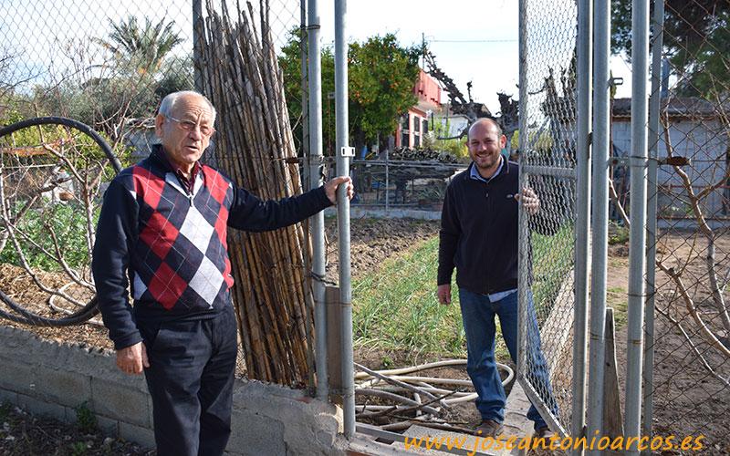 Paco Orenes con su padre.