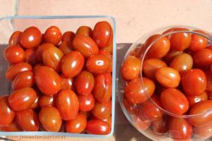 Tomate cherry pera de sabor de Enza Zaden.