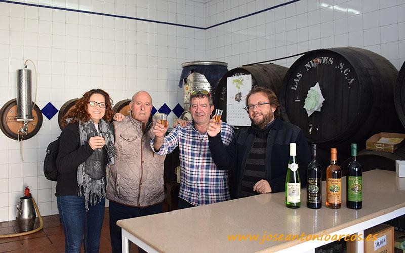 Ana Rubio, Antonio Escalera, Javier Álvarez y José Antonio Arcos con mistela. ¡Hasta la próxima Virgen de las Nieves!