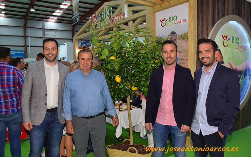 José Montoya con sus hijos Andrés, Francisco y José Manuel.