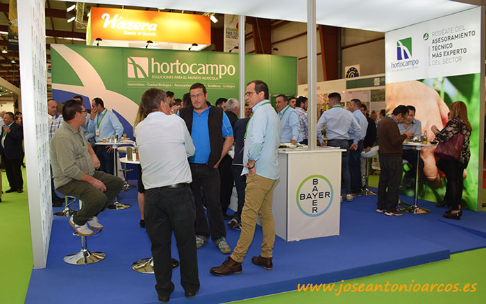 Expositor de Hortocampo en Expolevante 2018.