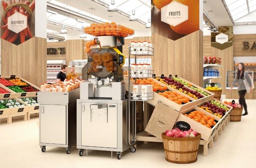 Tendencias. Máquinas de zumo en los supermercados