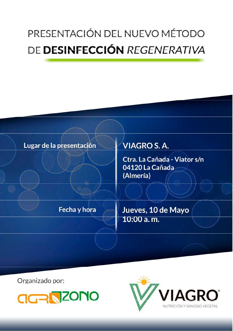 Días 9, 10 y 11 de mayo. Charlas de Viagro sobre desinfección regenerativa