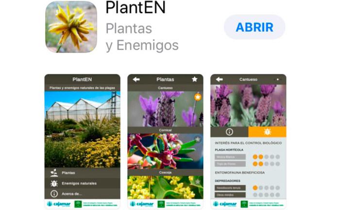 La aplicación móvil del control biológico, la app PlantEN