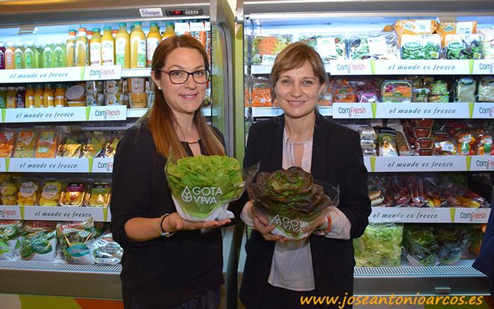Las lechugas vivas. Virginia Quero, comercial Comfresh; y Elisabet Expósito, marketing Rijk Zwaan.