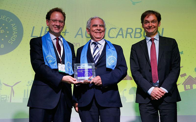 Aritmética del carbono en agricultura, mejor proyecto LIFE (