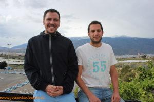 Manuel Valverde y Javier Borondo ayer en El Ejido (Almería).