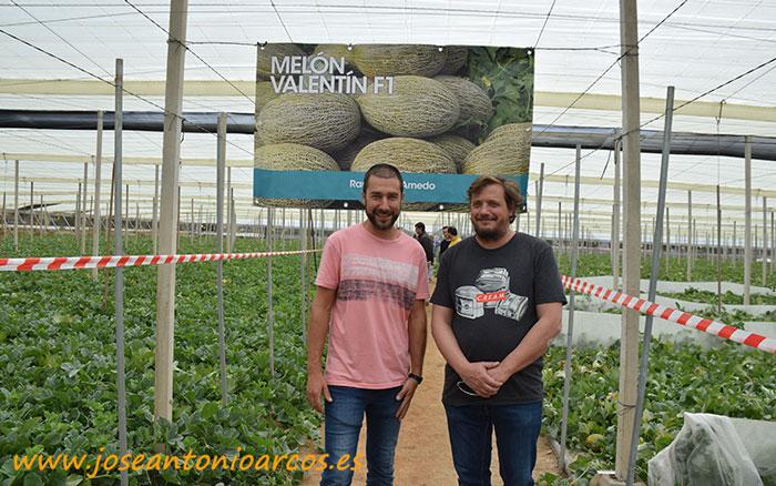 Ezequiel y Alejandro, los productores de la finca en la que se desarrolló la jornada de Ramiro Arnedo.