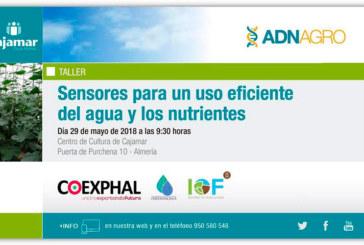 Día 29 de mayo. Jornada 'Sensores para un uso eficiente del agua y los nutrientes'