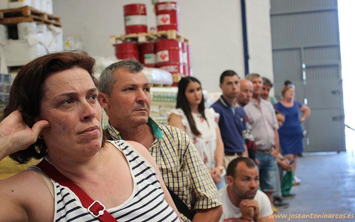 Agricultores en la charla de Cosmocel en Ejiber, El Ejido, Almería.
