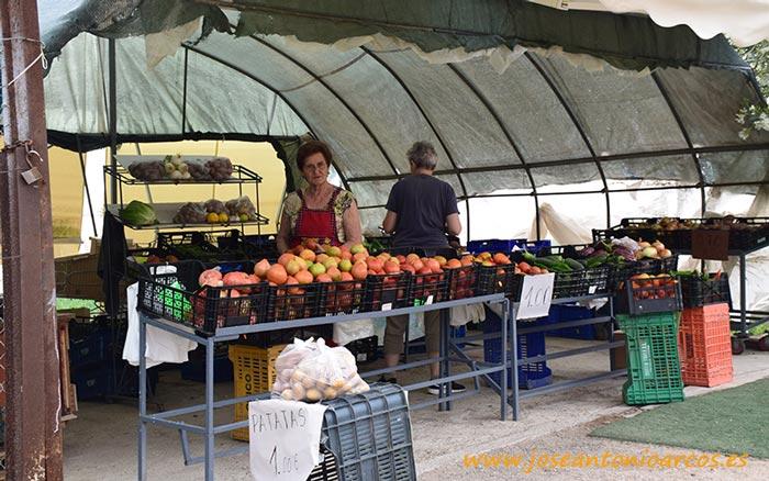 Venta de verduras a pie de campo en El Perelló.