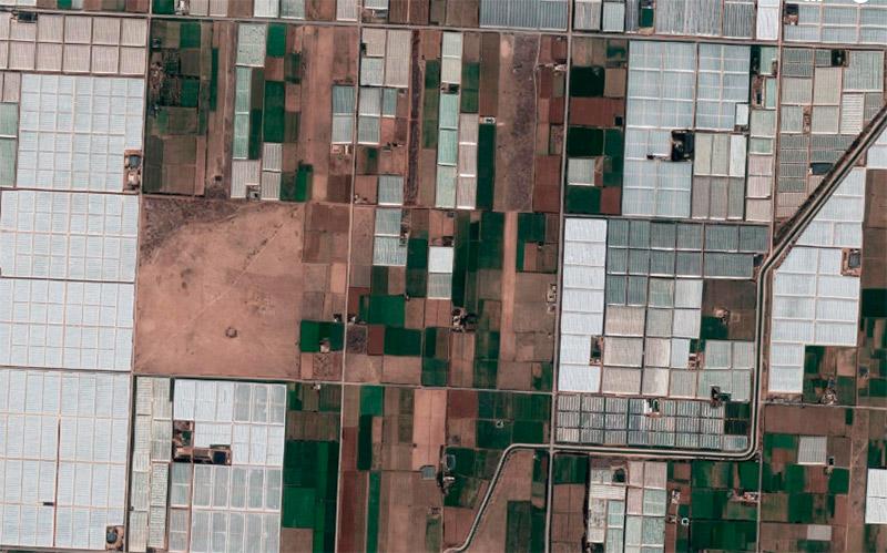 Invernaderos en Marruecos al sur de Agadir.