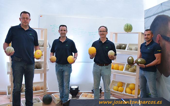 Kees van Lenning, Miguel Sánchez, Nico Van Vliet y José Sandoval. Equipo Seminis.