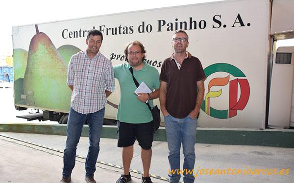 Con Bruno Fernandes y Julio Domingos.