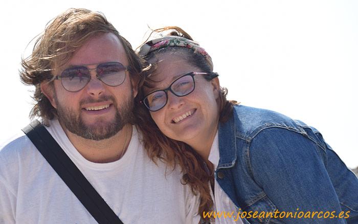 Ana Rubio y José Antonio Arcos en el Algarve, Portugal.