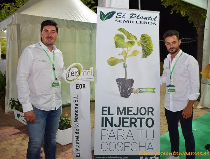 David Sánchez, director de producción de El Plantel Semilleros, y José Javier Ortega, técnico comercial en Los Llanos.