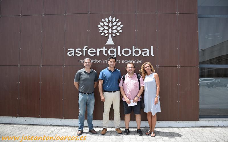 Entrada a las instalaciones de Asfertglobal en Portugal.