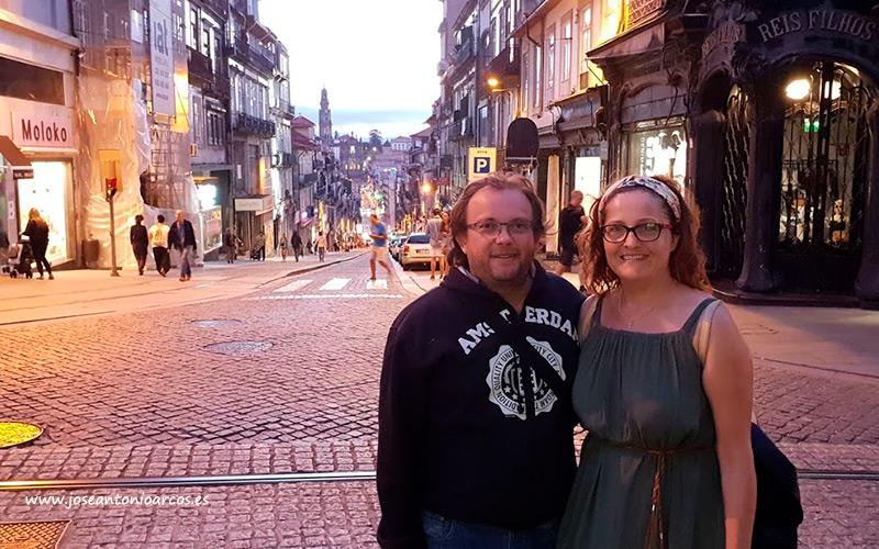 En las calles del centro de Oporto.