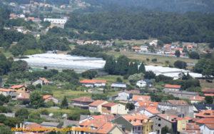 Invernaderos en Galicia.