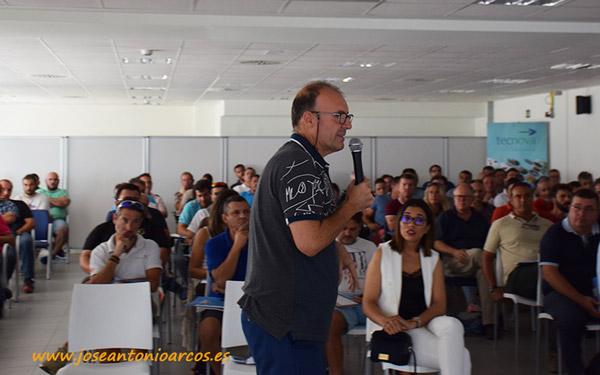 Donato García durante la presentación de Integrate en Tecnova.