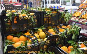 Naranjas almerienses en Mercamadrid.