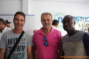 Paco y Manolo Úbeda con Richard Moreno.