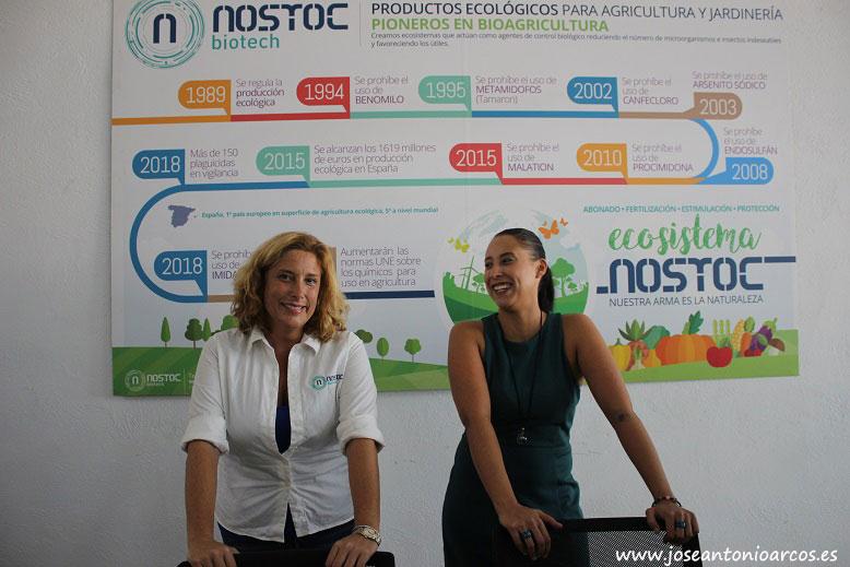 Rocío López-Romero, manager del Hub de Innovación Agrícola, y Rebeca Cazorla, directora de operaciones de Nostoc.
