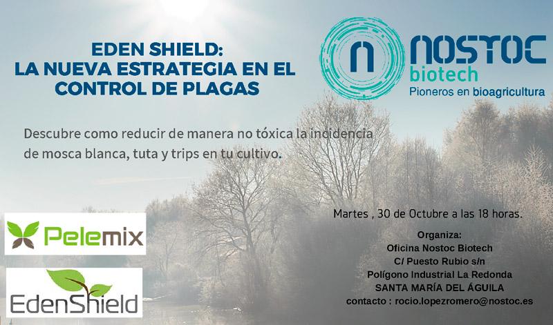 Día 30 de octubre. Charla de Eden Shield sobre control de plagas en El Ejido