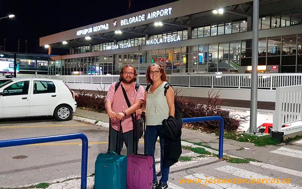 Ana y José Antonio Arcos en Belgrado.